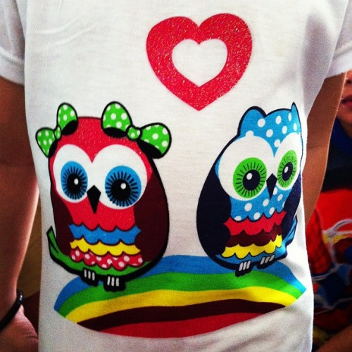 An adorable owl tee that one of the little girls, at my mum's kindy, wore today.