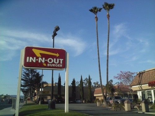 In-n-Out in Fontana,CA(My hometown)