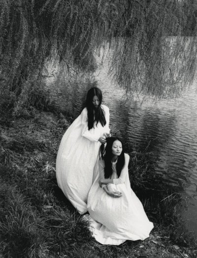 """Where Have All the Flowers Gone?"", Lee Hyun Yi and Liu Xu photographed by Lina Scheynius in Dazed & Confused June 2011"