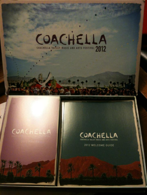 kellyegan:  The 2012 Coachella Music Festival tickets and press material have started to arrive in the mail and from the looks of it, nice print job Goldenvoice.  Like most of Apple's packaging, are you going to refuse to throw it out? Even after the event? (VIA)