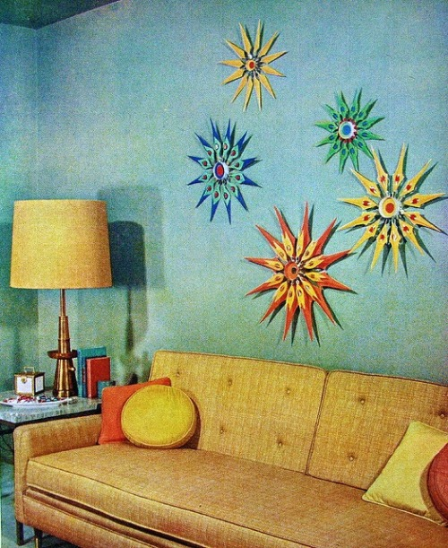 1950sunlimited:  Living room design 1957, Better Homes and Gardens