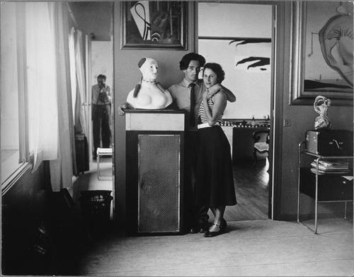 trebienn:  Dali and Gala in their Paris atelier, Brassai, 1932-33.