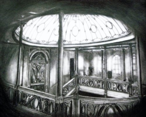 Drawing of the Grand Staircase submitted by Daniel Larsh