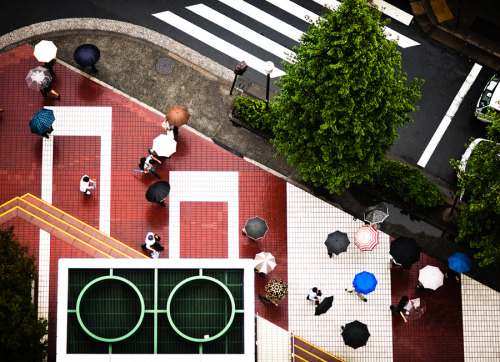 "Tokyo intersection deconstructed | Tokyo, Japan Navid Baraty certainly heeded Steve McCurry's advice to pick an unusual vantage point in this graphic composition of a Tokyo intersection.  View my other photos of Japan (via 500px / Photo ""Intersection 