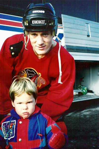 goldengatetreasures:  Logan Couture with Jeremy Roenick.