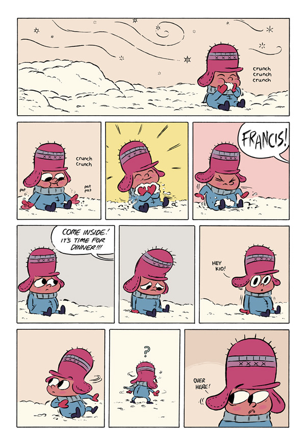 // Snow Story // A new 6-page comic for Heeby Jeeby Comix. Click through to read the whole comic.