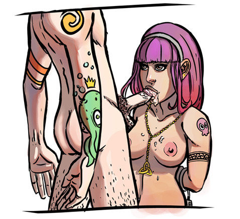 An older test image of the bass slave girl.