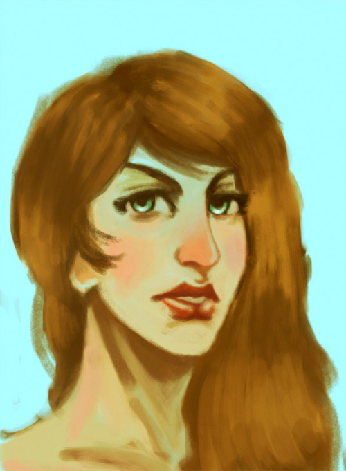 A speed paint of a floating head. Just because. I was killing time, playing with an iPad >_>…