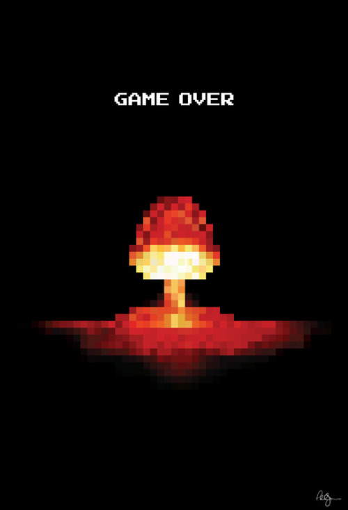it8bit:  Game Over Created by Phil Jones Prints available at society6. Website || Tumblr