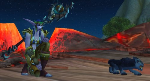 My druid in her re-transmogged PvP set. <3