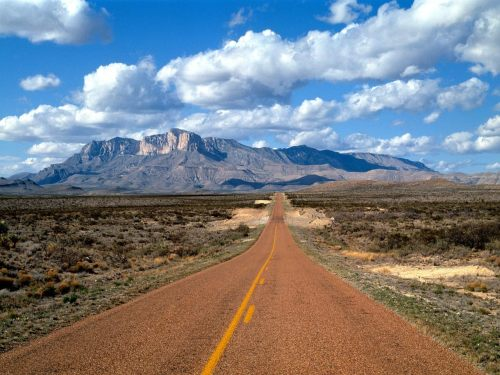 Lonesome Highway, Guadalupe Mountains, Texas