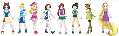 Pokemon Princesses by *Hapuriainen