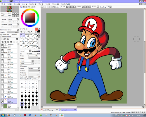 Making some progress… I gotta go sleep now, hopefully Mario will be done tommorrow.