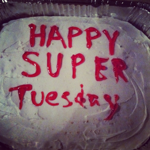 It's my super Tuesday cake.