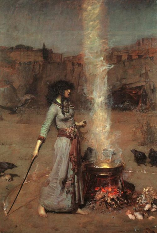 "seancecafe:  ""The Magic Circle"" (Morgan Le Fay) by John William Waterhouse"