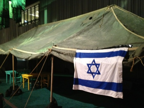forzionssake:  The IDF recreated their humanitarian aid tent that they set up in Haiti and Japan after the devastating natural disasters at the AIPAC Policy Conference 2012 in Washington.