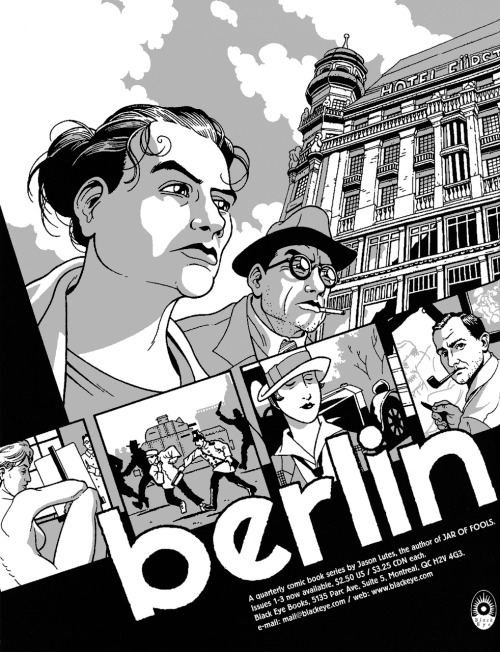 Promotional ad for Berlin by Jason Lutes, 1997.