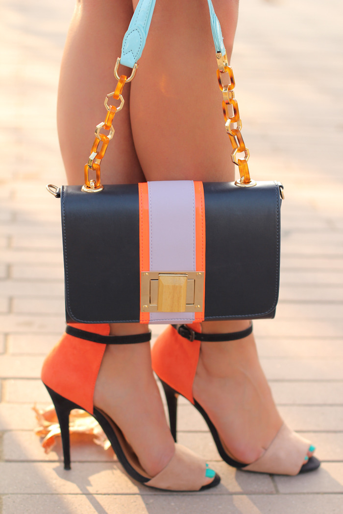 Be bold with color and match your shoes and bag!