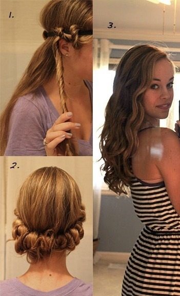 3 easy steps to make curls with no heat!
