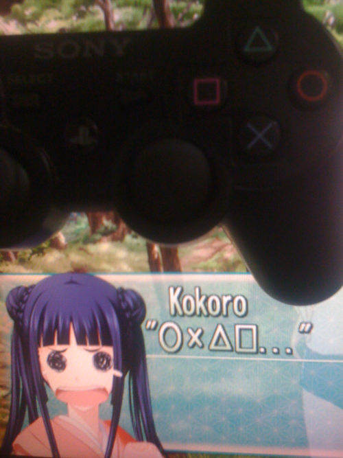 "Kokoro can speak ""Playstation"" too! how noble! It sound really cute too!"