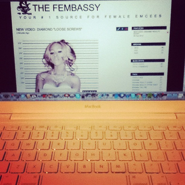 Up all night, working on the new site, The Fembassy.