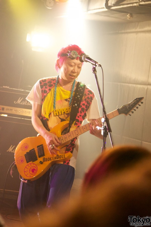Japanese Rock musician shows off his Harajuku pop art style at the Pop N Cute Party Pop N Cute Party by Harajuku Fashion Walk