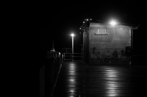 The Wharf at night.