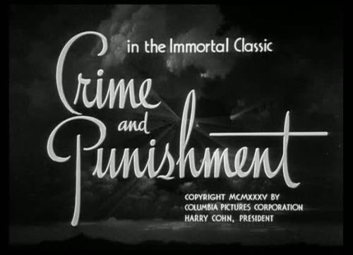 Crime and Punishment by Josef von Sternberg - 1935
