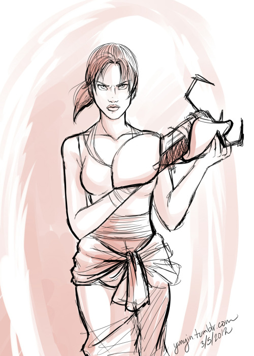 yunyin:  Chell doodled during livestream.