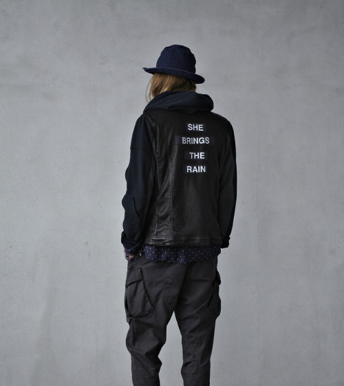 "free-the-line:  filthavenue:    Undercover SS12    Undercover SS12. love the ""she brings the rain"" jacket <3"