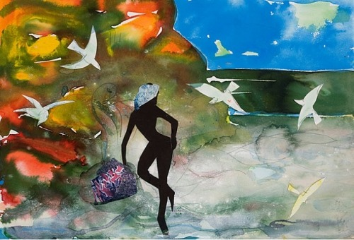 calm sea by Romare Bearden