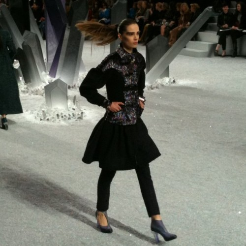 A look from the Chanel show. / on Instagram http://instagr.am/p/H08-2mpRzE/