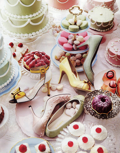 Sweets and shoes.  I´m loving it.