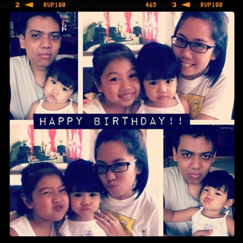 Happy Birthday Ga!! Love: Irik, Sheed & I. 😘🎂🎉🎁 #happy #birthday #love #cake #celebration #cute #kid #girl #bangs  (Taken with instagram)