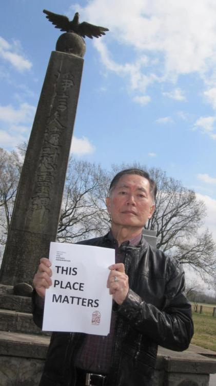early-onset-of-night:  George Takei at Rohwer Camp in Arkansas, where he and his family were imprisoned during World War II. More info.
