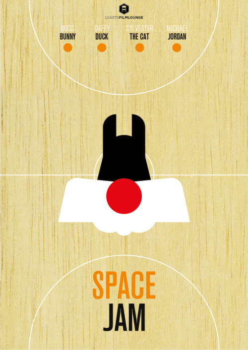 LCArts Film Lounge presents Space Jam poster. Sylvester the Cat edition.