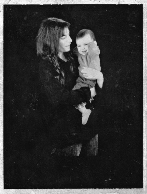 patricialeesmith:  patti with baby jesse, 1987