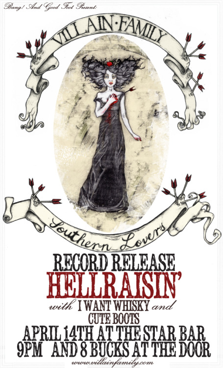 Villain Family Record Release Hellraisin' - April 14th at The Star Bar!
