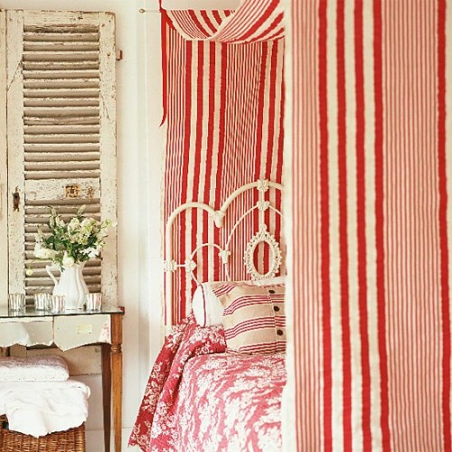 striped shabby chic