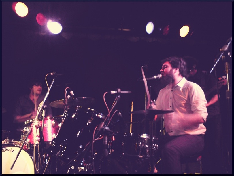 Liam and Elroy Finn drumming, Melbourne 2011