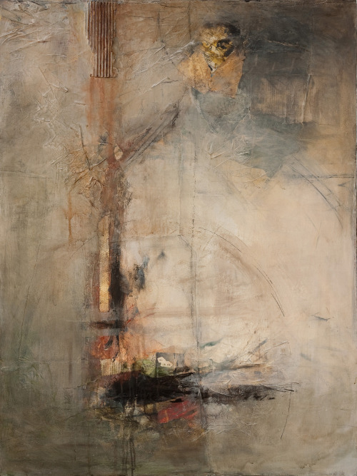 "dailyartjournal:  Jennifer Perlmutter, ""Beyond"", mixed media on canvas"