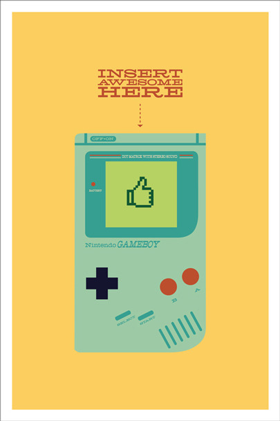 "Inspired by ""Game Boy"" Prints available at www.andrew-heath.com/shop!"