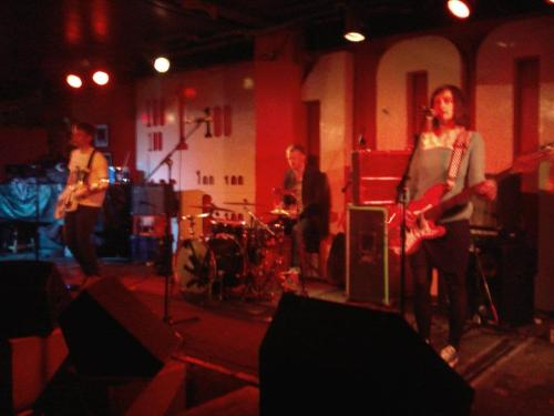 Us on the 100 Club stage at London Popfest last week.