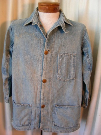 1930's railroad denim jacket  via: americanvintageclassics.com