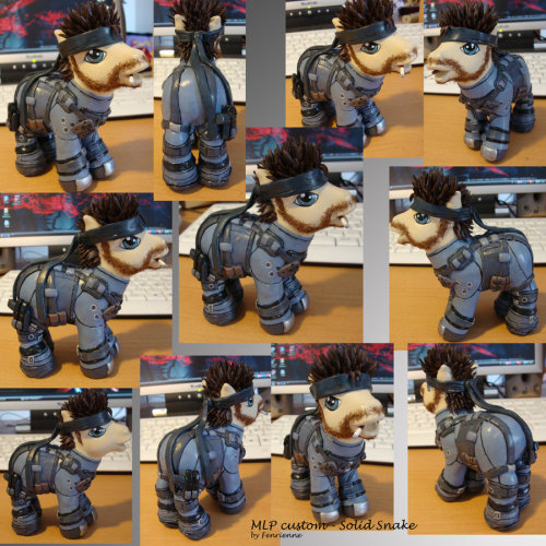MLP custom - Solid Snake by ~Fenrienne