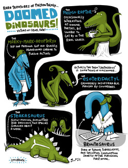 laughingsquid:  A Collection of Doomed Dinosaurs  Nice