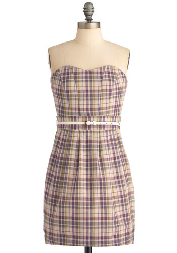 Dress like Rachel Berry: plaid to have it dress $77.99 from Modcloth