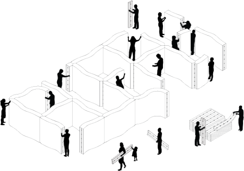 so-aware:  softshelter · a solution to homelessness caused by disaster by molo Softshelter is a system for creating personal space within a larger shelter area in order to provide individuals and families with a sense of privacy and encourage community-building in the days following a disaster. Softshelter is part of molo's ongoing research-driven exploration of materials, fabrication techniques and space-making with a focus on enhancing common daily ritual and flexible use of space.   More photos here.