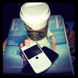 Lunchtime #coffee #instagram #instagood #iphone #starbucks #Elle #fashion #IPhone4  (Taken with instagram)