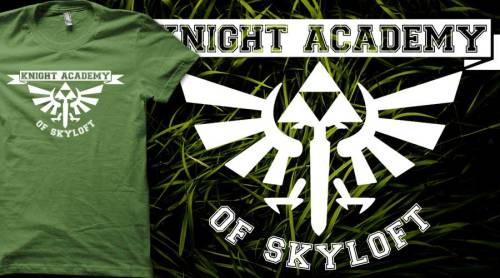 dotcore:  Knight Academy Of Skyloft.by Bomdesignz. The Knight Academy is a location on Skyloft where young students live and train to become knights once they graduate. You can buy it at Redbubble.